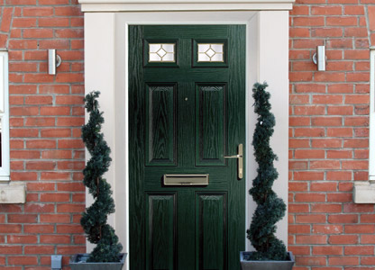 Green composite door with foam core