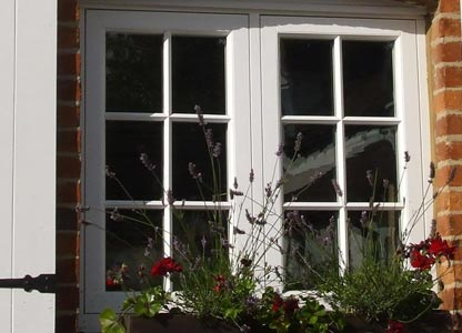 One of our timber flush sash windows