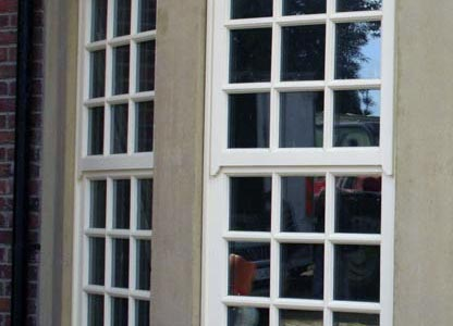 Timber mock sliding sash window