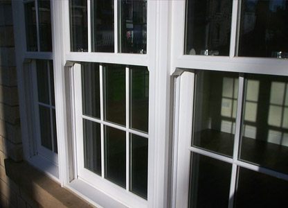 Timber sliding sash window with spiral balances