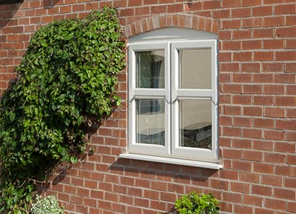 One of our timber look mock sliding sash windows