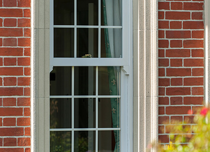 One of our UPVC mock sliding sash windows