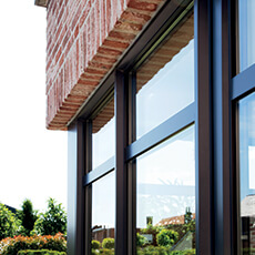 bespoke Aluminium windows in choice of RAL.