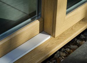 Slider 24 sliding uPVC patio door in woodgrain finish