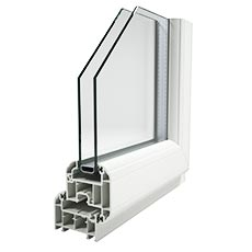 Sculptured frame Deceuninck uPVC tilt and turn profile