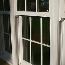 Timber sliding sash window with spiral balance